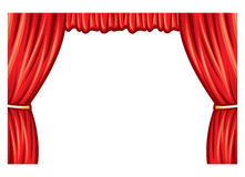 Theater curtain. Red theater curtain, curtain to theater stage Royalty Free Stock Image