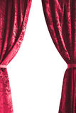 Theater curtain on white background Royalty Free Stock Photography