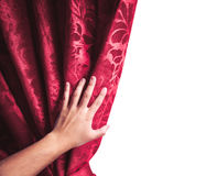 Theater curtain on white background Stock Images
