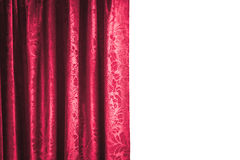 Theater curtain on white background Royalty Free Stock Image