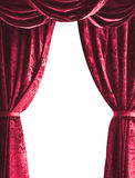 Theater curtain on white background Royalty Free Stock Images