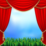 Theater curtains Royalty Free Stock Image