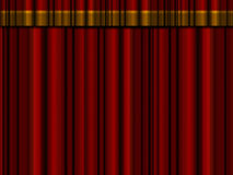 Theater curtains. Closed theater curtains / drapes with top drape Stock Images