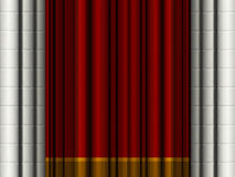 Theater curtains. / drapes with stone columns Royalty Free Stock Images