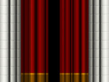 Theater curtains. / drapes with stone columns Royalty Free Stock Image