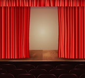 Theater curtains background Stock Photo