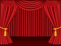Theater curtains.  Grouped and layered for easy ed Stock Image