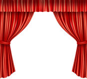 Theater curtains isolated Royalty Free Stock Photos