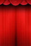 Theater curtains of red cloth. Red curtain of a classical theater Royalty Free Stock Photo