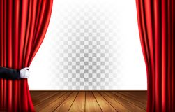Theater curtains with a transparent background. Vector Stock Photo