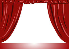 Theater curtains vector illustration Royalty Free Stock Photography