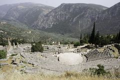 The theater in Delphi, Greece Stock Image