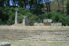Theater in den Ruinen von Olympia Lizenzfreie Stockfotos