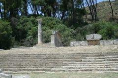 Theater in den Ruinen von Olympia Lizenzfreies Stockfoto