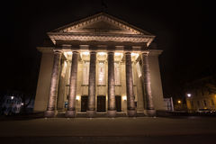 Theater detmold germany in the evening. The theater detmold germany in the evening Royalty Free Stock Photography
