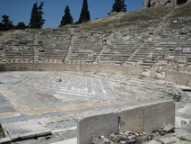 Theater of dionysus, acropolis Royalty Free Stock Photo