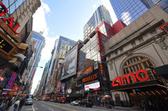 Theater District, Manhattan, New York City Royalty Free Stock Image