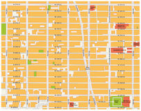 Theater district map, new york. Theater district map, midtown manhattan, new york city vector illustration