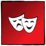 Theater drama masks vector illutration Royalty Free Stock Photos