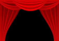 Theater draped curtain Stock Images