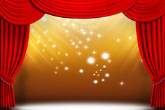 Theater Drapes Stock Image