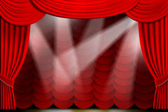 Theater Drapes Royalty Free Stock Images