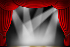 Theater Drapes Royalty Free Stock Photography