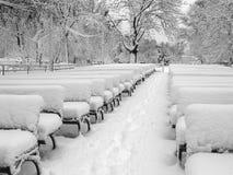 Theater in een sneeuw Stock Afbeeldingen