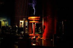 Theater of Electricity, Boston Museum of Science. Stock Images