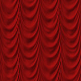 Theater or Elegant Living Room CurtainRed Curtain Stock Photography