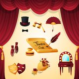 Theater Elements Set Royalty Free Stock Photography