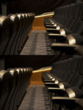 Theater empty row seat Royalty Free Stock Photo