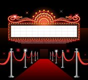 Theater sign movie premiere Royalty Free Stock Photo