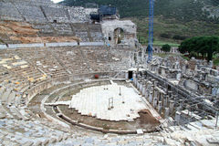 Theater in Ephesus Stockbild