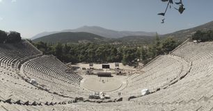 Theater in Epidauros Griekenland Royalty-vrije Stock Afbeelding
