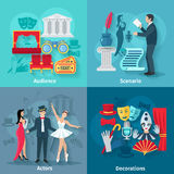 Theater Flat Set Royalty Free Stock Images