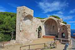 Theater in fortress at Tossa de Mar,  Spain Stock Photography