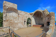 Theater in fortress at Tossa de Mar, Spain Stock Photo