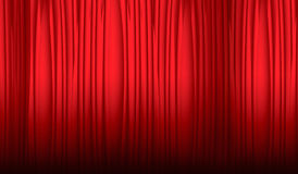 theater gordijn Stock Afbeelding
