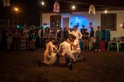 Theater group presentation of Teatro Imaginário Maracangalha at the event Quarteirão.
