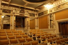 The theater hall from Peles Castle royalty free stock images