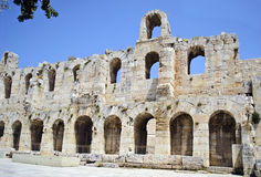 Theater of Herodes Atticus Athens Greece Stock Photos