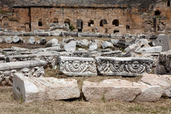 Theater in Hierapolis Lizenzfreie Stockfotos