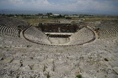 Theater in Hierapolis, Turkije Royalty-vrije Stock Foto's