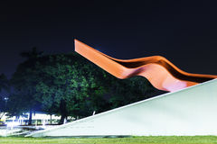 The Theater in Ibirapuera Park, Sao Paulo Stock Photos