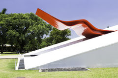 The Theater in Ibirapuera Park, Sao Paulo, Brazil Royalty Free Stock Photos