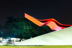The Theater in Ibirapuera Park, Sao Paulo, Brazil Royalty Free Stock Images