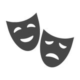 Theater icon with happy and sad masks Stock Images