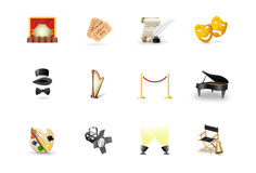 Theater icons Royalty Free Stock Photos