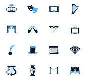Theater icons set. Theater icon set for web sites and user interface Royalty Free Stock Image